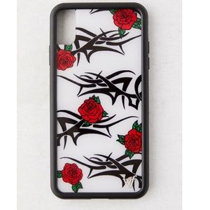 WILDFLOWER XS MAX tatted rose iPhone case